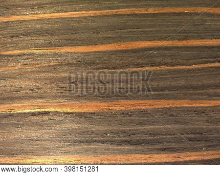 Natural Fire Ebony Wood Texture Background. Veneer Surface For Interior And Exterior Manufacturers U