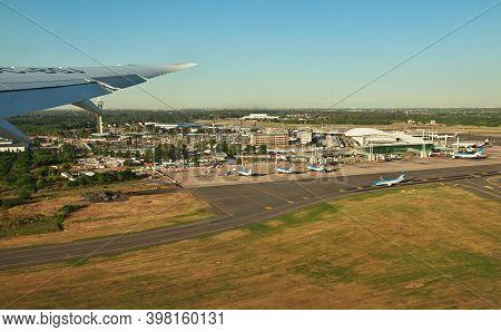 Buenos Aires, Argentina - 24 Dec 2019: Airport Of Buenos Aires, Argentina