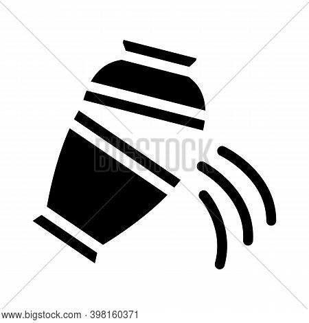 Ashes Of Deceased Pour Out Of Urn Glyph Icon Vector Illustration