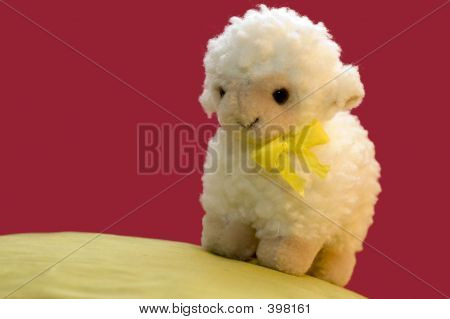A Toy Sheep In Spring