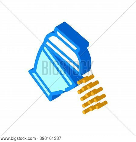 Ashes Of Deceased Pour Out Of Urn Isometric Icon Vector Illustration
