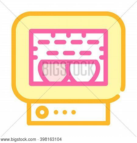 Roasting Chamber Color Icon Vector Illustration Color