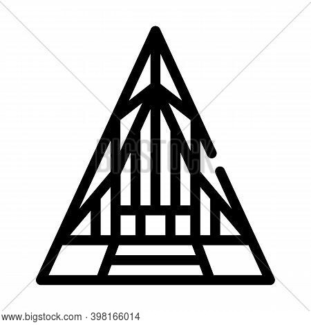 United States Air Force Academy Cadet Chapel Line Icon Vector Illustration
