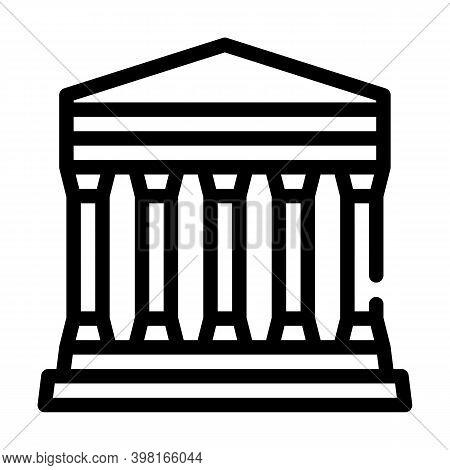 Concordia Temple, Agrigento Sicily Line Icon Vector Illustration