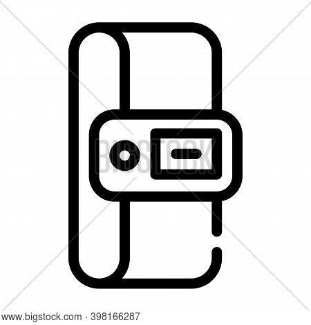 Constant Temperature Control Sensor Line Icon Vector Illustration