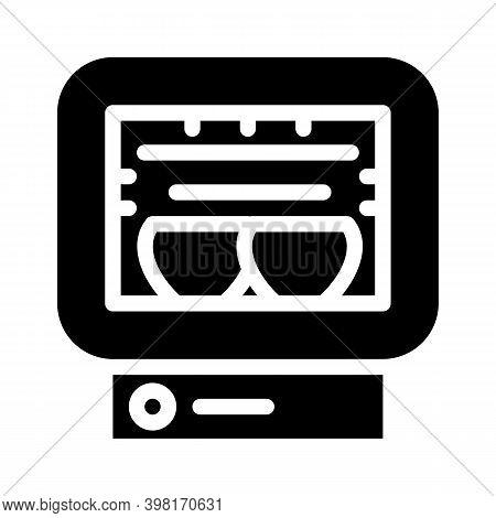 Roasting Chamber Glyph Icon Vector Illustration Black