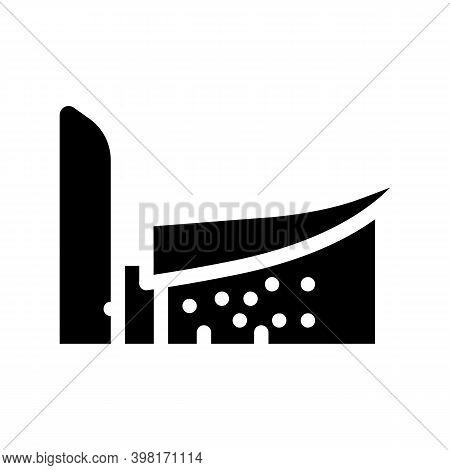 Notre Dame Du Haut Glyph Icon Vector Illustration