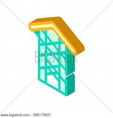 Thorn Crown Chapel Isometric Icon Vector Illustration