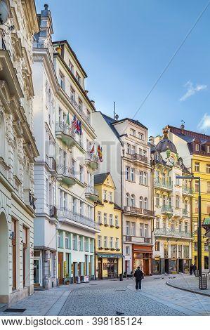 Street In Karlovy Vary City Center, Czech Republic