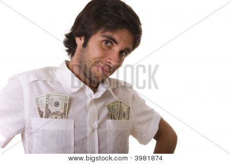 Man Showing His Money
