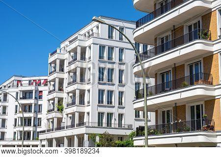 Modern Luxury Apartment Buildings Seen In Prenzlauer Berg, Berlin