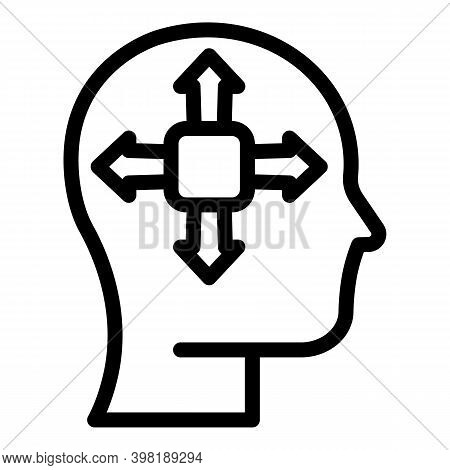 Mind Opportunity Icon. Outline Mind Opportunity Vector Icon For Web Design Isolated On White Backgro