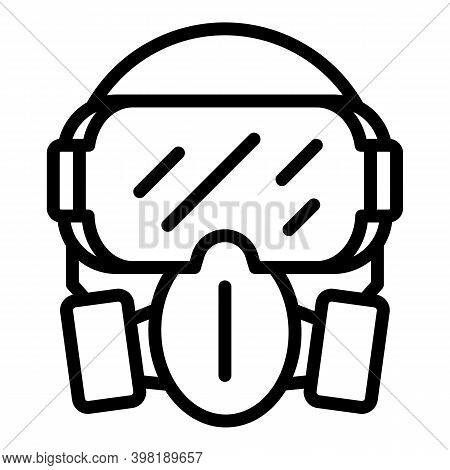 Chemical Mask Icon. Outline Chemical Mask Vector Icon For Web Design Isolated On White Background