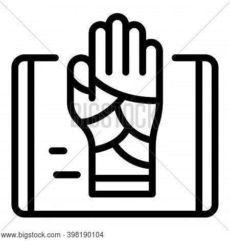 Injured Handicon. Outline Injured Handvector Icon For Web Design Isolated On White Background