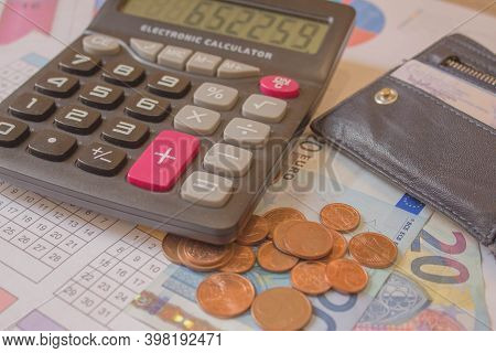 Business, Finance, Saving Money, Banking, Loan, Investment, Taxes Or Accounting Concept : Coins Stac