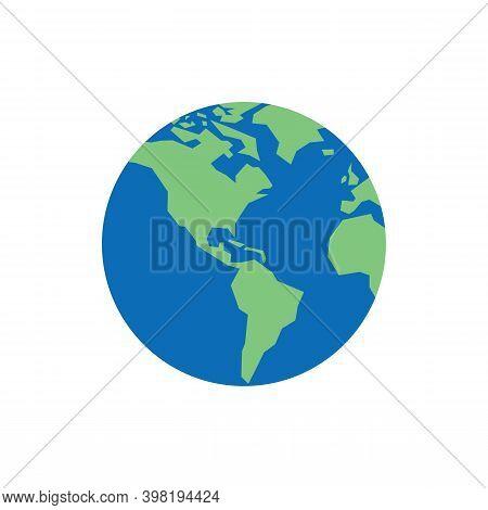 Globe Earth Planet Icon Design. Vector Illustration. Globe Earth Planet Icon Design. Vector Illustra
