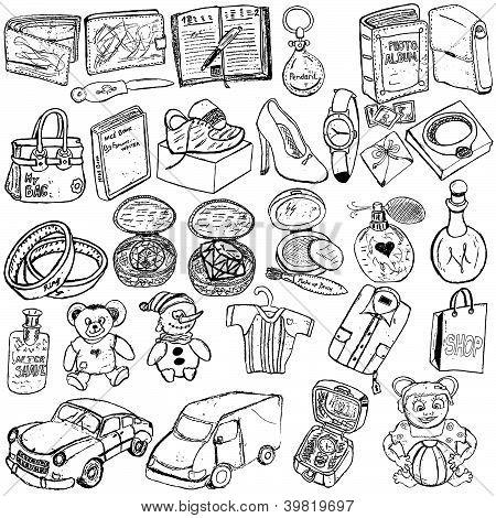 Shopping Gift Sketch