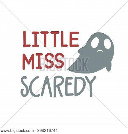 Little Miss Bootiful. Beautiful Boo Text. Happy Halloween Illustration. Handmade Lettering Print. Ve