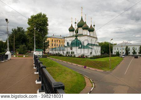 Yaroslavl, Russia - August 14, 2020: Church Of The Transfiguration Of The Savior On The City Built I