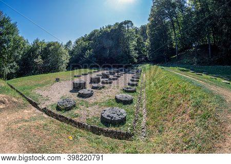 Gradistea De Munte, Romania-september 22, 2020:ancient Dacian Sanctuary At The Sarmizegetusa Regia,