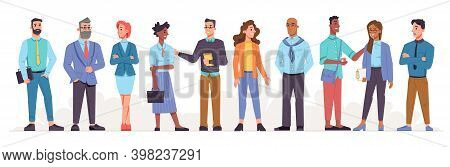 Multicultural Employees Or Workers Of Company Or Organization. Multinational Businessmen And Busines