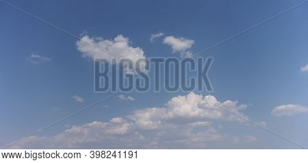 Blue Sky With White Clouds - Calm Background