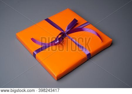 Gift Box Decoration. Wrapping Colorful Gift Box