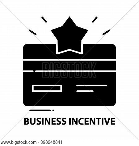 Business Incentive Icon, Black Vector Sign With Editable Strokes, Concept Illustration