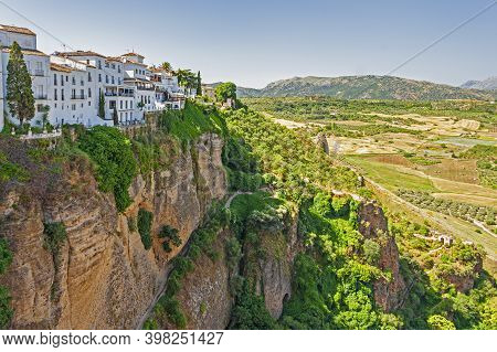 Spectacular Views Of The Tajo Gorge And Mountaintop Town Of Ronda In Andalusia, Spain
