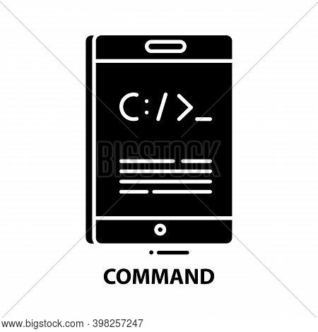 Command Icon, Black Vector Sign With Editable Strokes, Concept Illustration