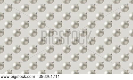 Background Of Many Pearl Christmas Balls On Beige