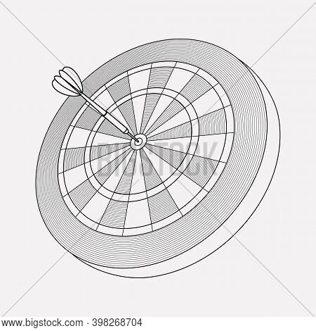Darts Icon Line Element. Vector Illustration Of Darts Icon Line Isolated On Clean Background For You