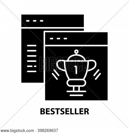Bestseller Symbol Icon, Black Vector Sign With Editable Strokes, Concept Illustration