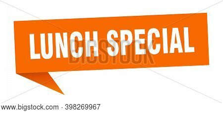 Lunch Special Speech Bubble. Lunch Special Ribbon Sign. Lunch Special Banner