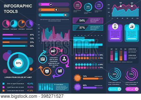 Bundle Infographic Ui, Ux, Kit Elements. Different Charts, Diagrams, Workflow, Flowchart, Timeline,