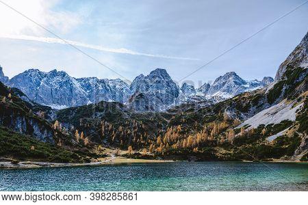 Drachensee Lake Tyrol Zugspitze Mountains Alps Austria