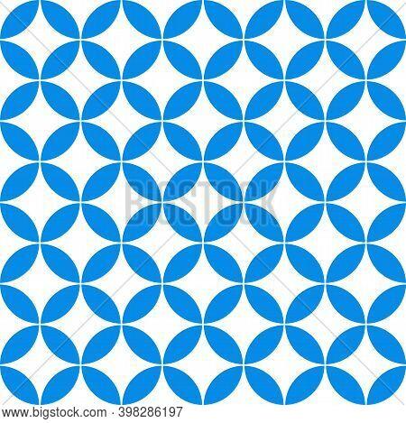 Scandinavian Design.seamless Pattern. Tile And Textile Design.pattern Circle Flower Background.