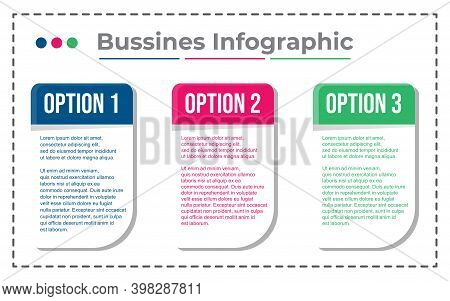 Business Infographic Element. Vector Of Infographic Element. Infographic Element Option Template.