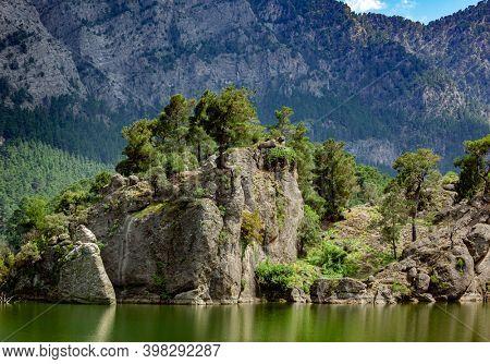Rock landscape in Turkey, spring