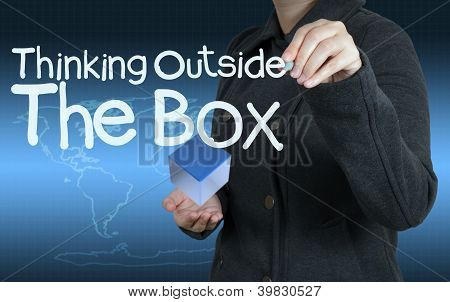 Word Thinking Outside The Box As Concept