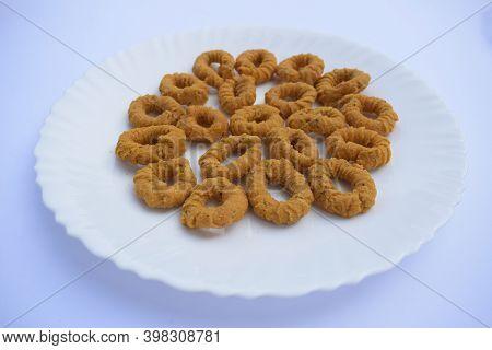 Ring Murukku Also Known As Chegodilu Indian Deep Fried Snack Eaten During Tea Time Andhra South Indi