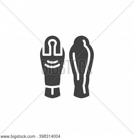 Egyptian Sarcophagus Vector Icon. Filled Flat Sign For Mobile Concept And Web Design. Egyptian Mummy