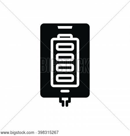 Black Solid Icon For Fully Absolutely Completely Charge Battery Electric Accumulator Technology Devi