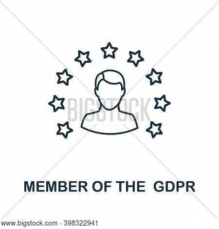 Member Of The Gdpr Icon. Line Style Element From Gdpr Collection. Thin Member Of The Gdpr Icon For T