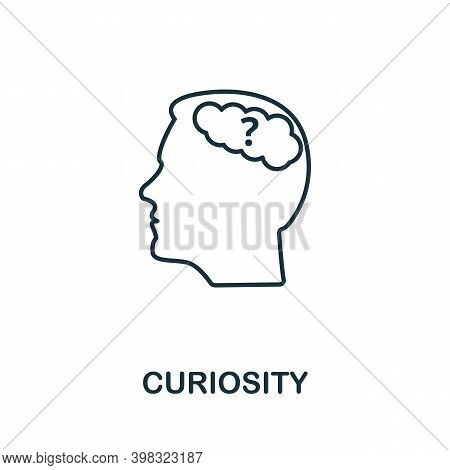 Curiosity Icon. Line Style Element From Life Skills Collection. Thin Curiosity Icon For Templates, I