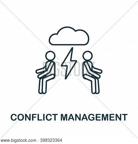 Conflict Management Icon. Line Style Element From Life Skills Collection. Thin Conflict Management I