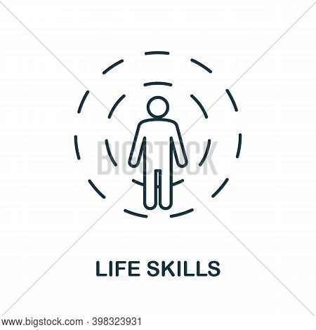 Life Skills Icon. Line Style Element From Life Skills Collection. Thin Life Skills Icon For Template