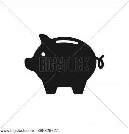 Piggy Bank Vector Icon. Business Symbol Sign.