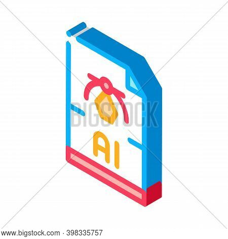 Ai Drawing Figure Icon Vector. Isometric Ai Drawing Figure Sign. Color Isolated Symbol Illustration