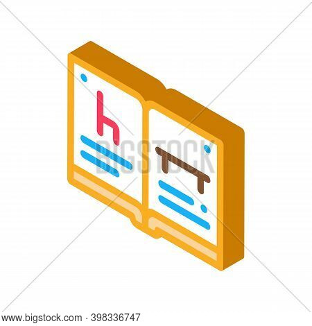 Furniture Catalog Icon Vector. Isometric Furniture Catalog Sign. Color Isolated Symbol Illustration